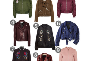 Moto and Bomber Jackets for Fall