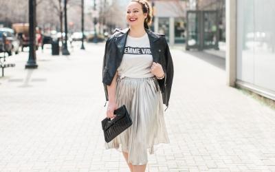 3 Ways to Wear: A Metallic Skirt