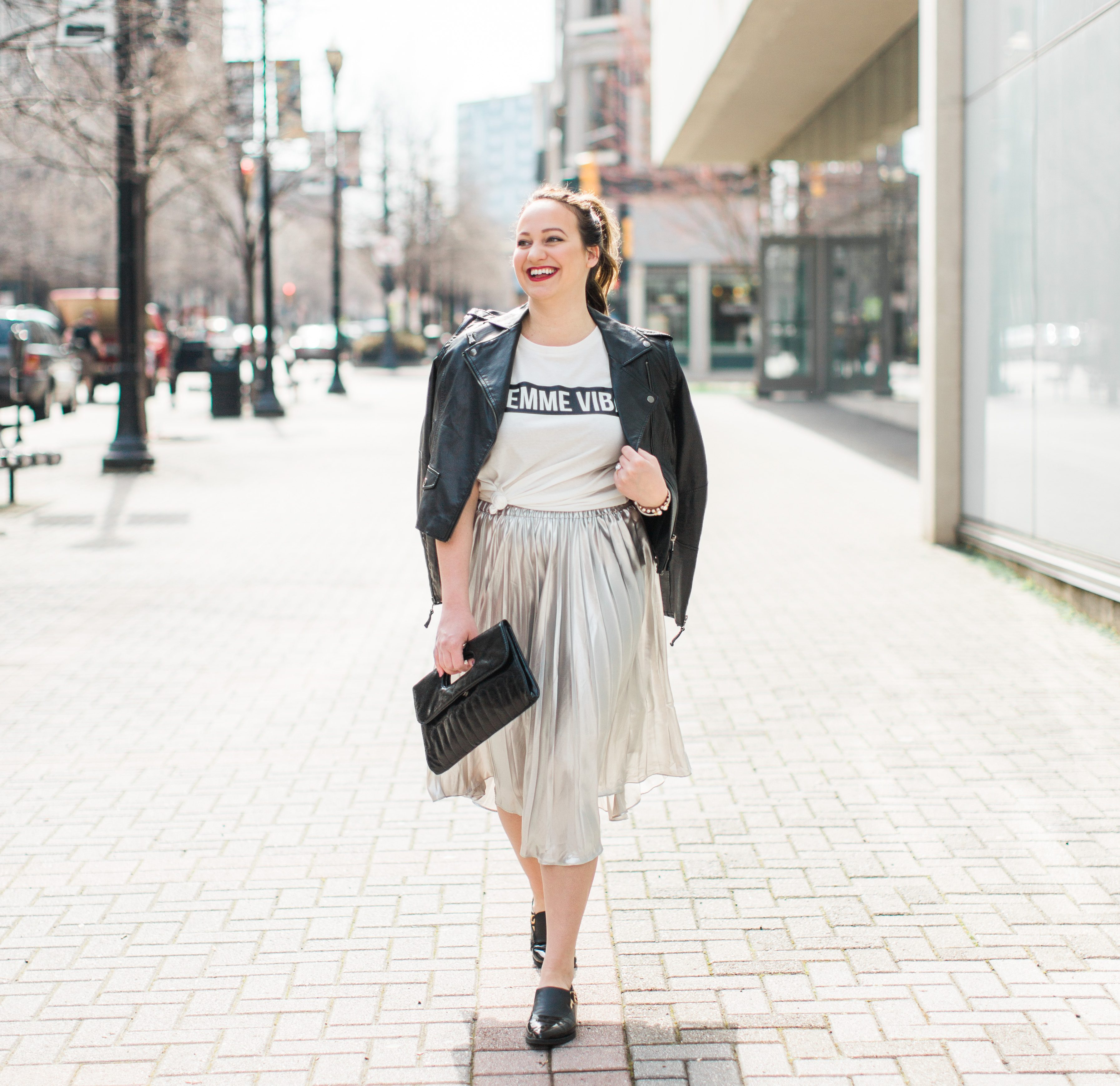 3 Ways to Wear: A Metallic Skirt