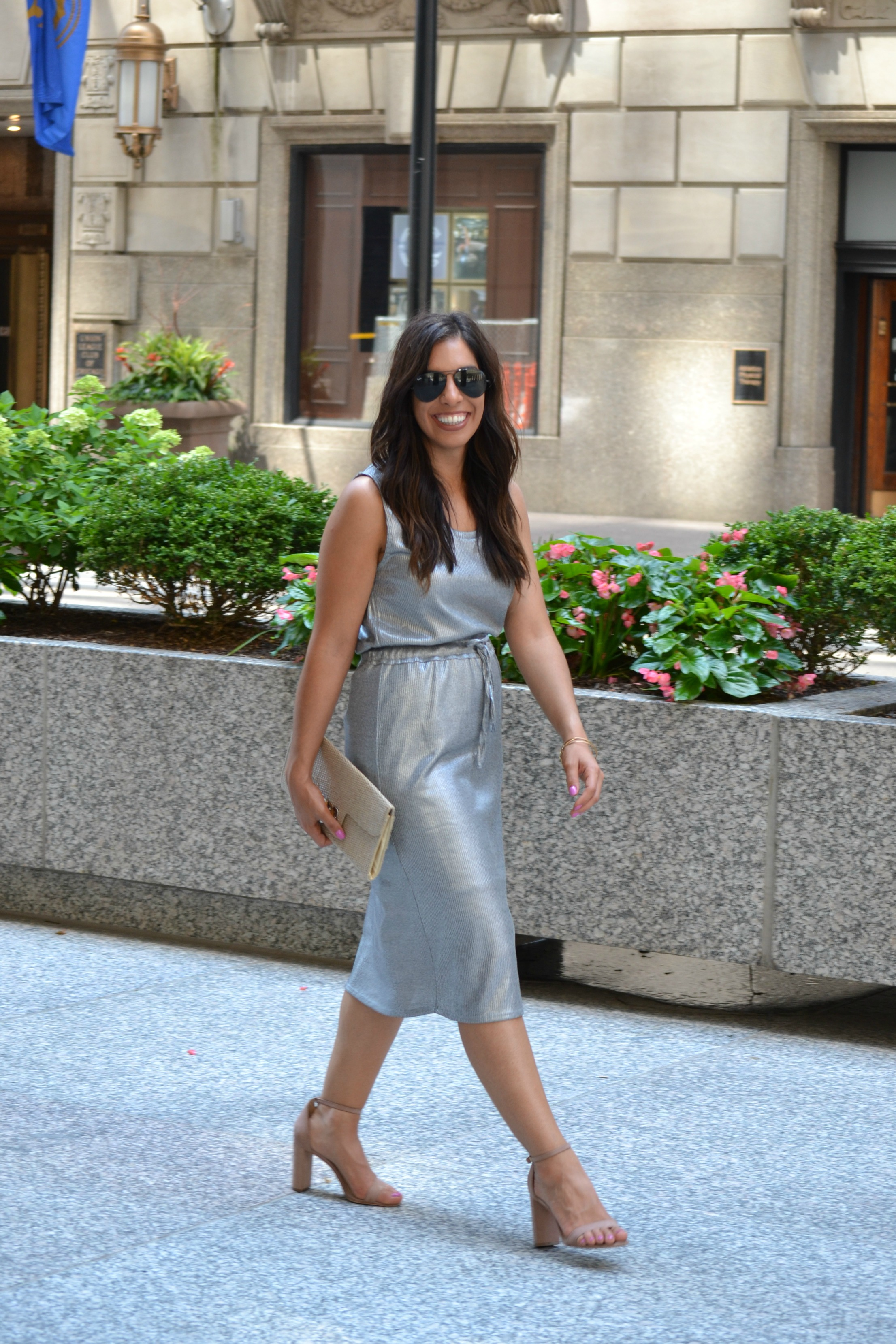 Anthropologie Knit Metallic Dress!