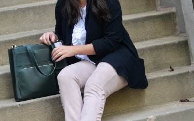 Wear to Work Ruffles & Chic Commuter Tote
