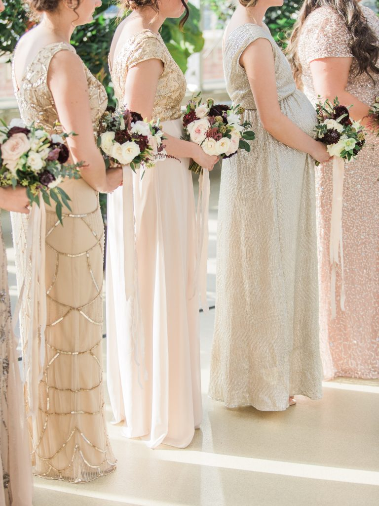 How to pick the perfect mismatched bridesmaid dresses hashtags wedding inspiration mismatched bridesmaid dresses beaded bridesmaid dresses ombrellifo Image collections