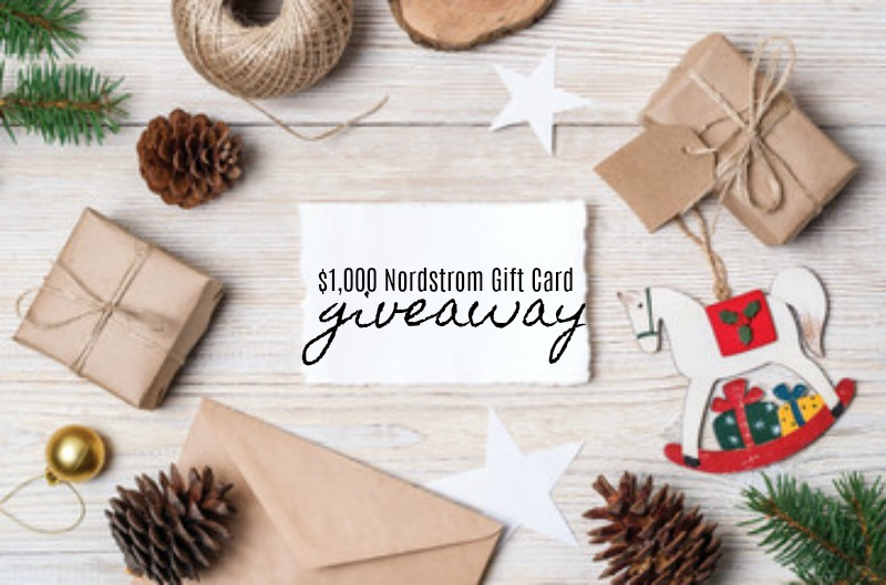 Giveaway-$1,000 Nordstrom Gift Card